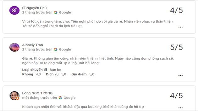 Đánh giá khách sạn Nam Ngọc