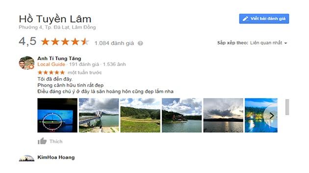 Cảm nhận của quý du khách về hồ Tuyền Lâm