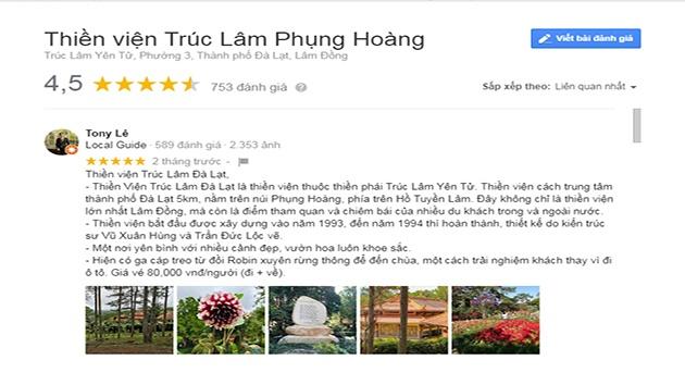 Cảm nhận về Thiền viện Trúc Lâm núi Phụng Hoàng