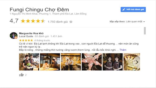 Đánh giá nhà hàng Fungi Chingu ẩm thực Hàn Quốc
