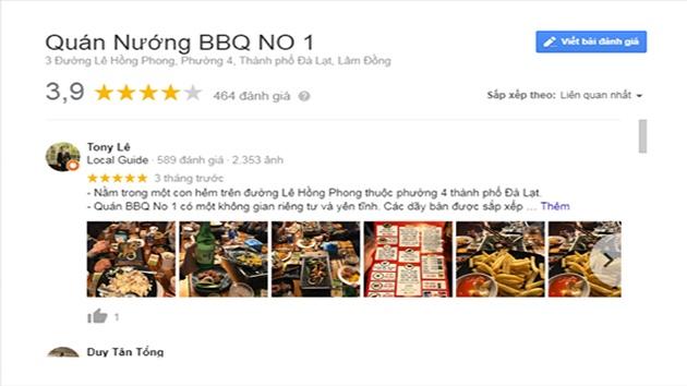 Đánh giá quán nướng BBQ No.1 Đà Lạt