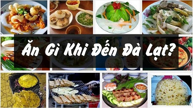 What food should Da Lat tourism eat?