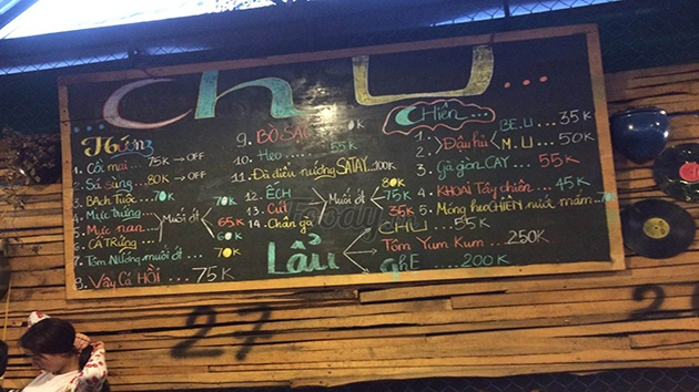 Địa chỉ quán CHU - lẩu, nướng ngon số 1 tại Đà Lạt