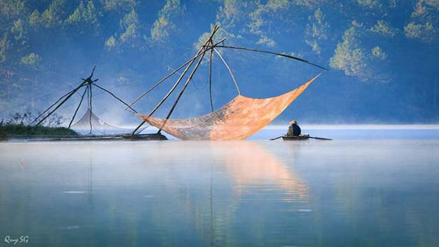 Hình ảnh đẹp tại hồ Tuyền Lâm