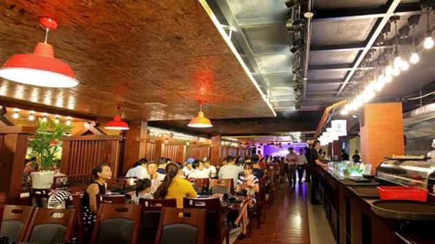 Không gian nhà hàng Kings BBQ Đà Lạt
