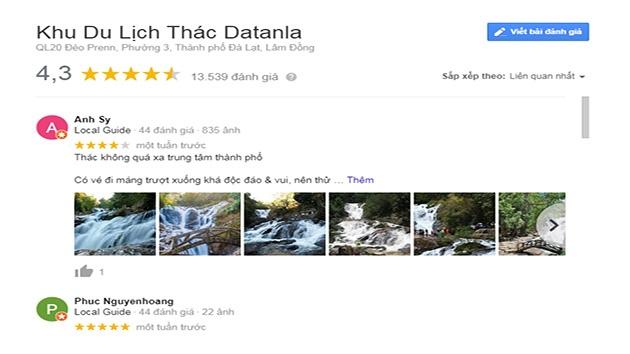 Cảm nhận của quý du khách về khu du lịch thác Datanla