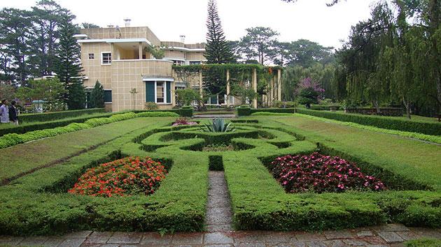 Dinh Bảo Đại Đà Lạt với phong cách kiến trúc Pháp đặc trưng