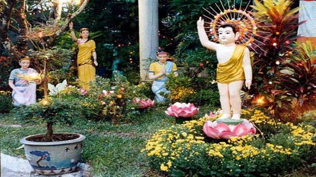 Khuôn viên bên ngoài Thiền viện Vạn Hạnh