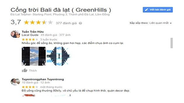 Review cổng trời Bali Đà Lạt