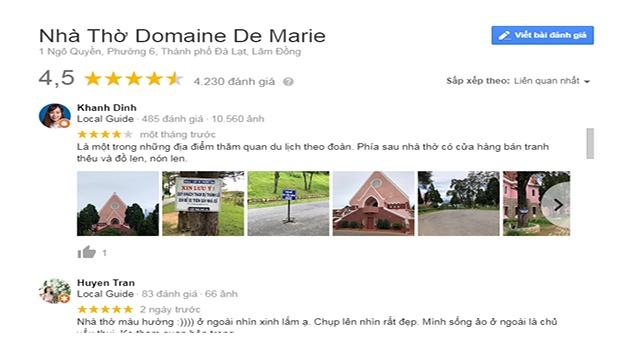 Review Nhà thờ Domaine de Marie