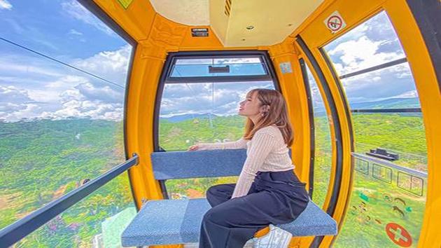 Hình ảnh đẹp tại Khu du lịch Cáp treo Đà Lạt