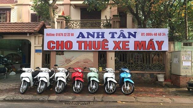 Dịch vụ thuê xe máy Anh Tân