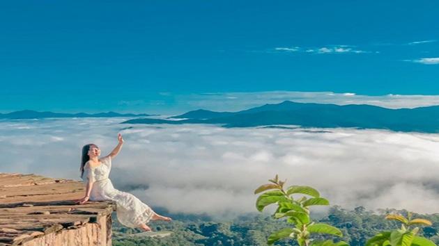 Cầu gỗ săn mây ở Đà Lạt