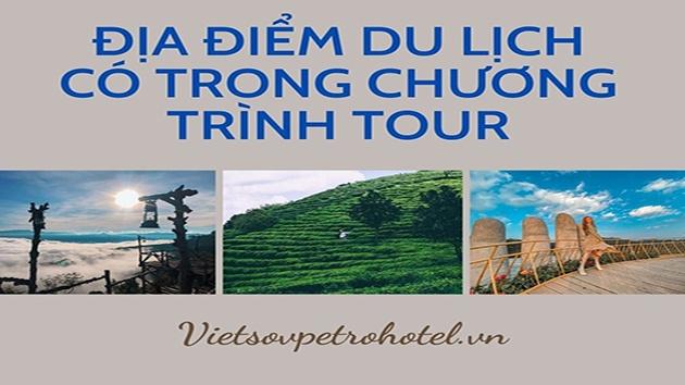 Địa điểm du lịch có trong chương trình TOUR