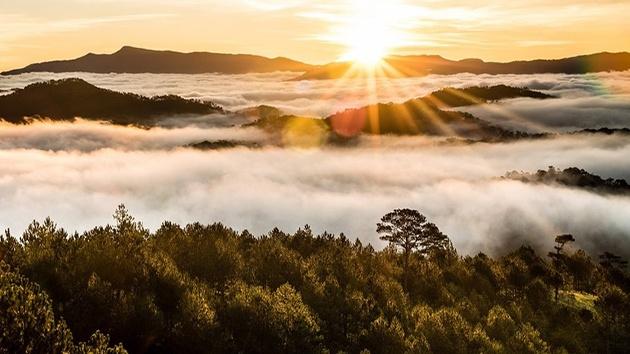 Săn mây tuyệt đẹp tại núi Hòn Bồ Đà Lạt