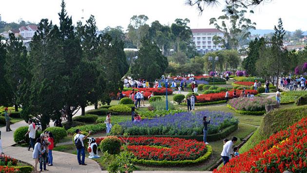 Tham quan Vườn Hoa Thánh Phố Đà Lạt