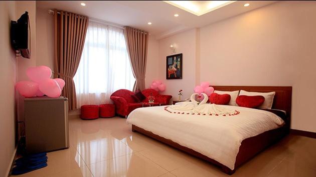 Phòng Honey moon khách sạn Ngọc Trai Vàng