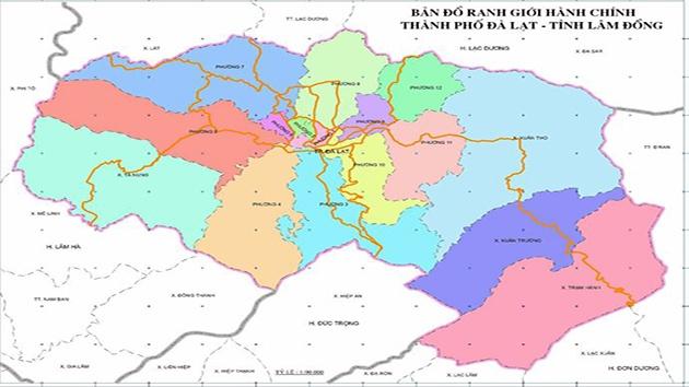 Vị trí địa lý của Thành phố Đà Lạt