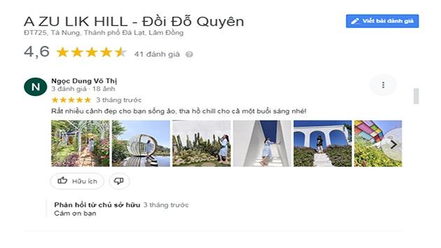 Đánh giá Azulik Hill - Đồi Đỗ Quyên Đà Lạt