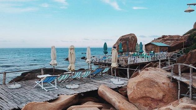 Khu du lịch Thiên Thủy - Những căn nhà gỗ view biển tuyệt đẹp