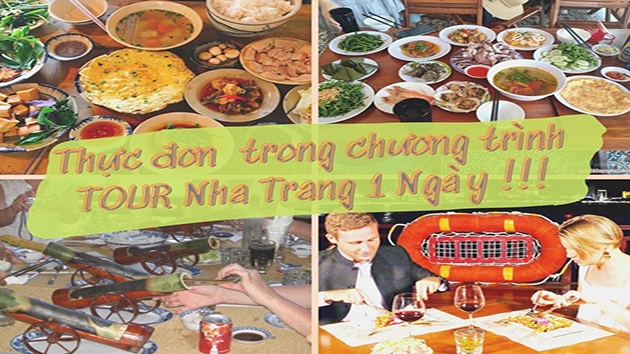 Thực đơn ăn trưa trong chương trình tour Nha Trang 1 ngày