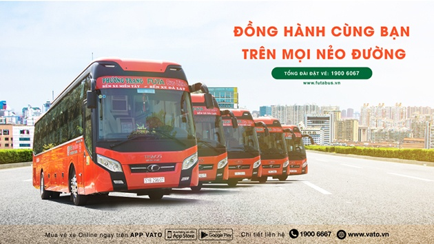 Xe khách Phương Trang tuyến Đà Lạt - Cần Thơ
